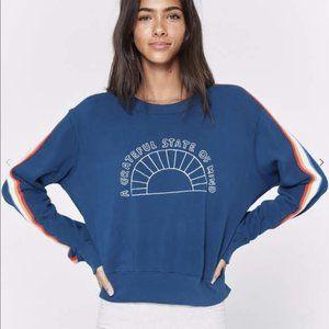 Spiritual Gangster Cropped Rainbow Sweatshirt